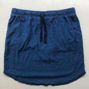 Boden Denim Jersey Pull-on Skirt